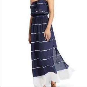 Athleta strapless tie dye maxi dress